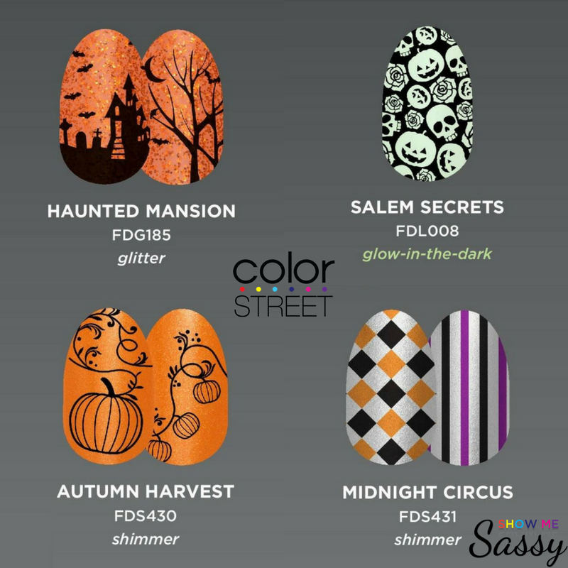 Halloween Nail Art From Color Street Show Me Sassy